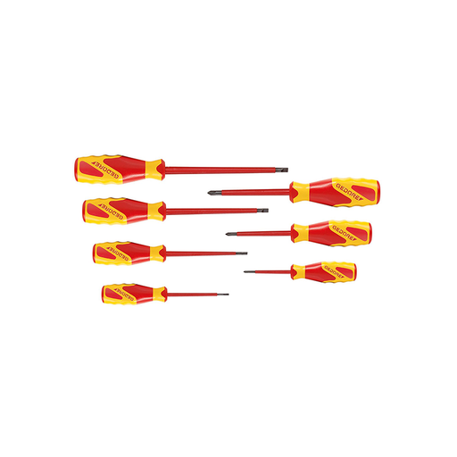GEDORE 1616048 Vde Screwdriver Set, Is 2.5-6.5 Ph 0-2 (Pack of 7)