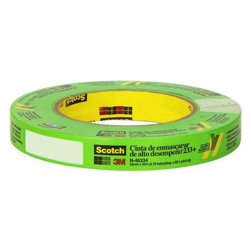 3M Scotch 46334 233+ 18mm x 55m Performance Masking Tape