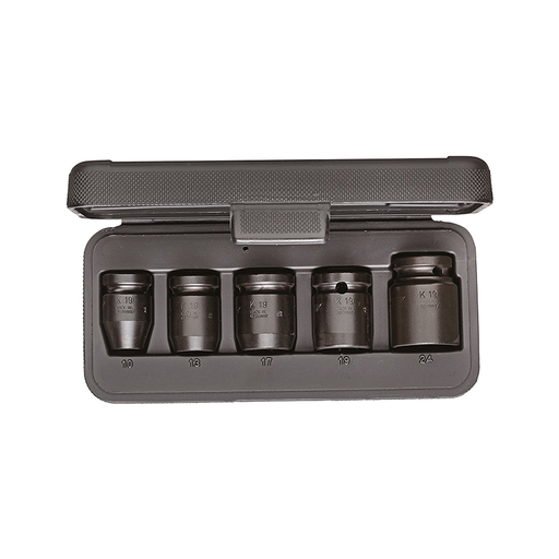 "GEDORE 1646923 Car Impact Socket Set, 1/2"", Hex 10 mm - 24 mm (Pack of 5)"