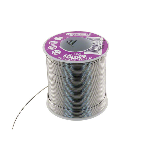 "MG Chemicals 4865-454G 4860 Series Sn63/Pb37 No Clean Leaded Solder 0.032"" Diameter 1 lbs Spool"