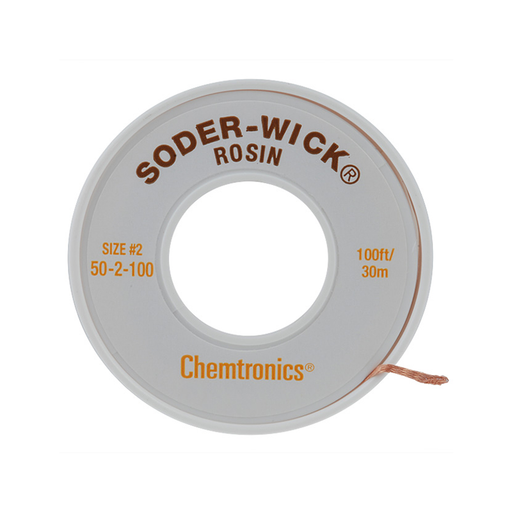 "Chemtronics 50-2-100 SODER-WICK Rosin Desoldering Braid .060"", 100ft"