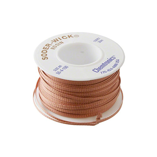 "Chemtronics 50-4-100 SODER-WICK Rosin Desoldering Braid .110"", 100ft"