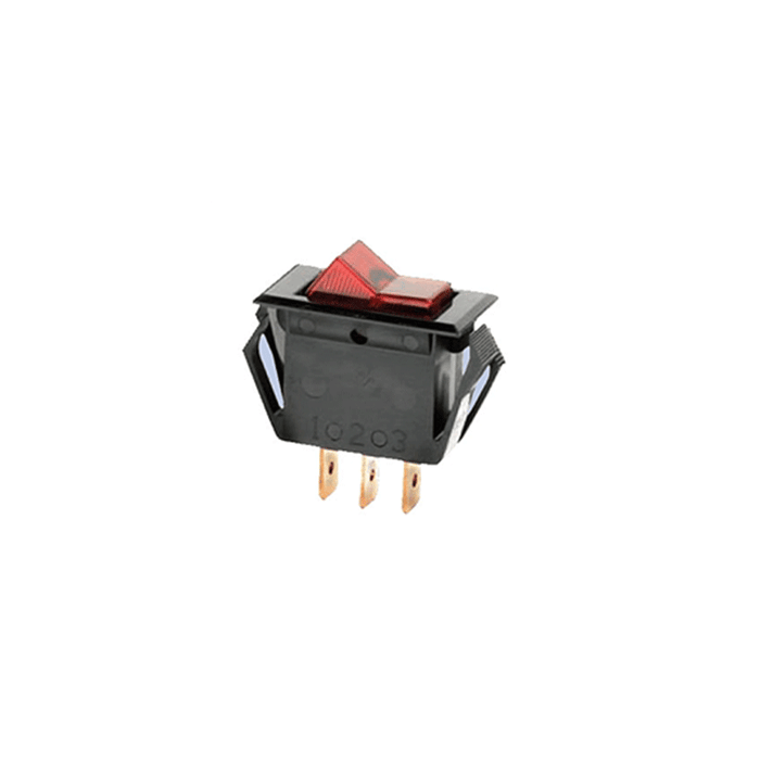 NTE Electronics 54-054 16A Miniature Illuminated Snap-In Rocker Switch