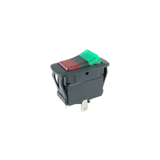 NTE Electronics 54-241W SPDT 21A 14VDC ON-OFF-ON Waterproof Illuminated Rocker Switch With 12V Red - Green LED