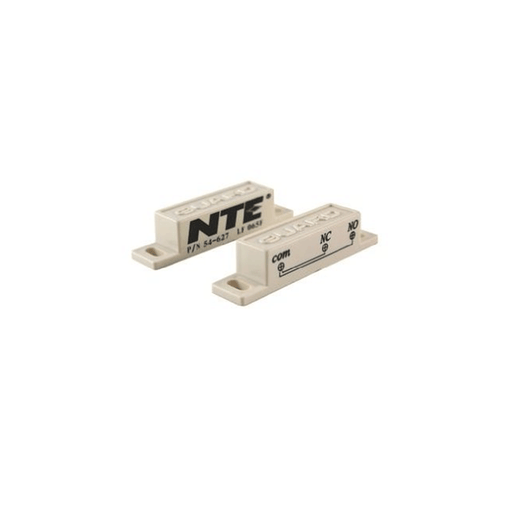 NTE Electronics 54-627 Magnetic Alarm Reed Switch SPDT Circuit, NO or NC Action Magnet Actuator Screw Terminals, 125V