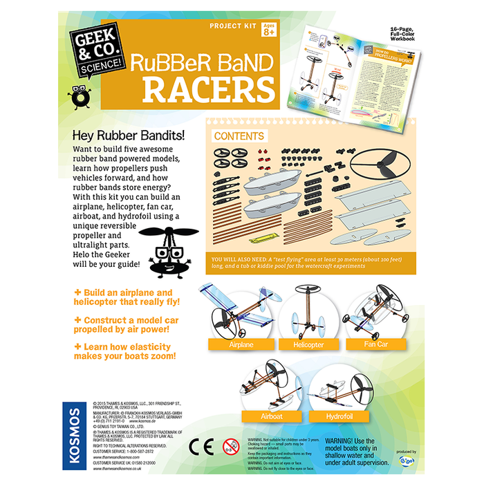 Thames and Kosmos 550020 Rubber Band Racers