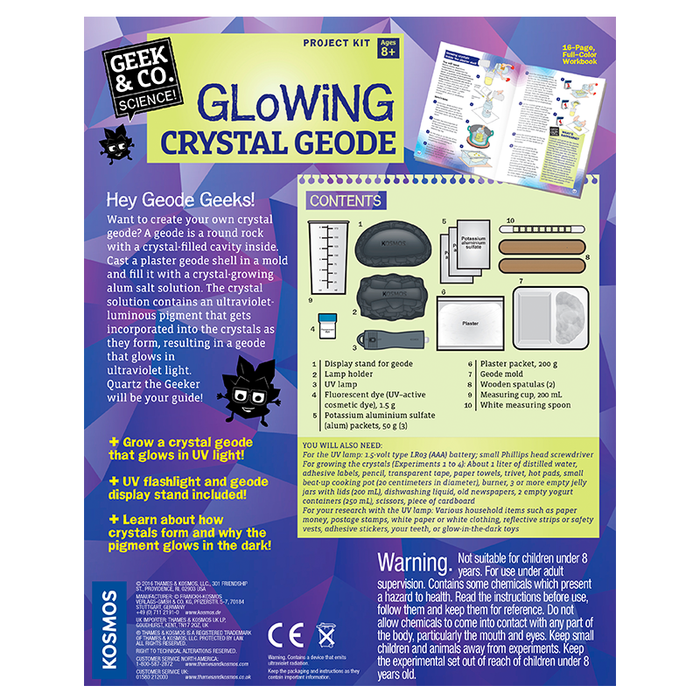 Thames and Kosmos 550022 Glowing Crystal Geode
