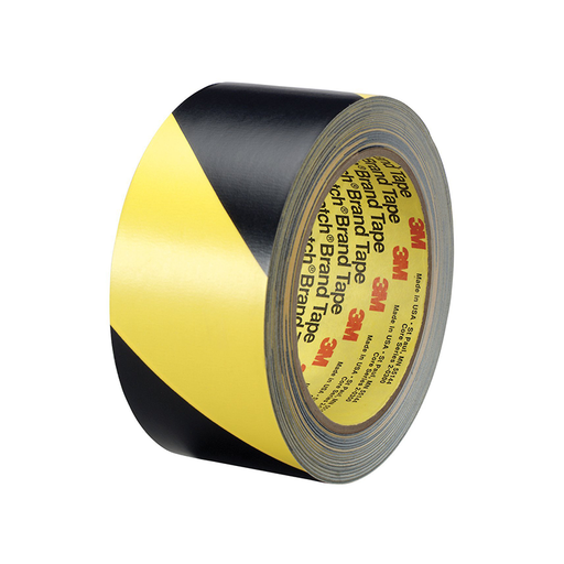 "3M 5702 IW 3"" x 36yd Black / Yellow Safety Stripe Tape"