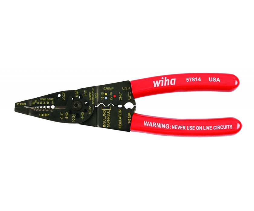 Wiha 57814 578 Combo Strippers Crimper Pliers AWG 10-22
