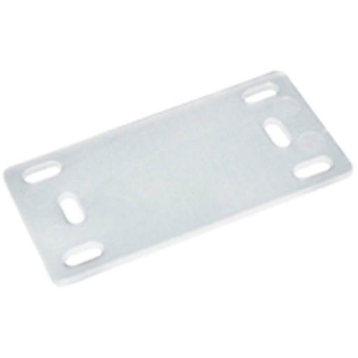 "NTE Electronics 04-IDP19 IDENTIFICATION PLATE NATURAL NYLON 1.57""x.787"" 100/BAG"