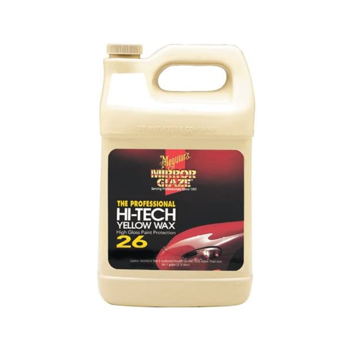 Meguiar's Mirror Glaze Hi-Tech Yellow Wax, M2601, 1 Gallon, Liquid