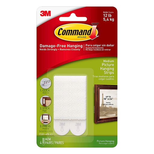 Command Medium Picture Hanging Strips 17201-4PK-ES