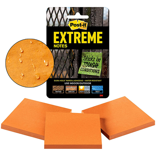 Post-it Extreme Notes, EXTRM33-3TRYOG, 3 in x 3 in (76 mm x 76 mm)