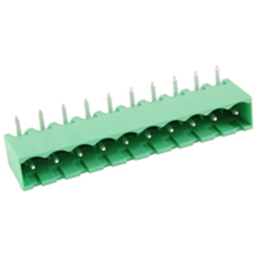 NTE Electronics 25-E1400-10 Terminal Block 10 Pole 5.08mm Pitch PC Mount