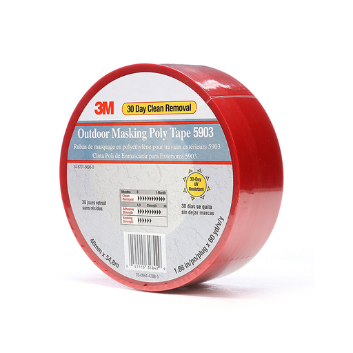 3M 5903 Red 48mm x 54.8m Outdoor Masking Poly Tape