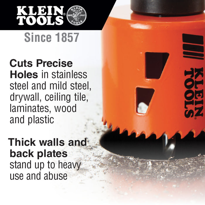 Klein Tools 31928 Bi-Metal Hole Saw, 1-3/4""