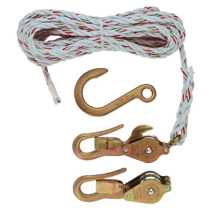 Klein Tools H1802-30 Block and Tackle, Blocks 267/268, Anchor Hook 258