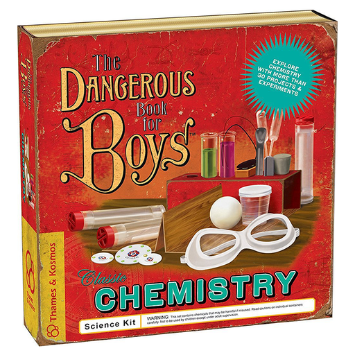 Thames and Kosmos 600001 The Dangerous Book for Boys Classic Chemistry Science Kit