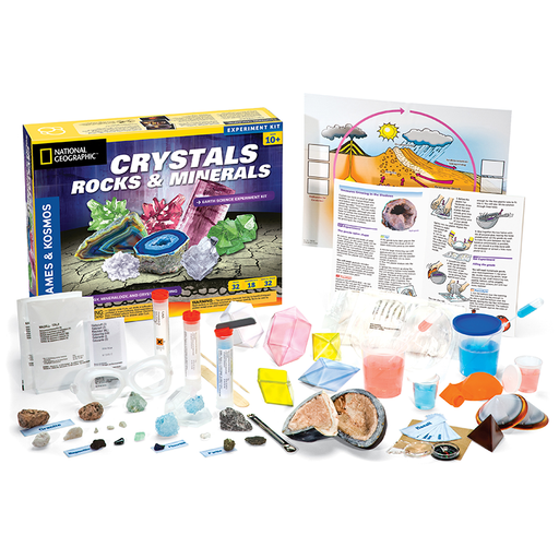Thames & Kosmos 642112 Crystals, Rocks & Minerals Science Experiment Kit