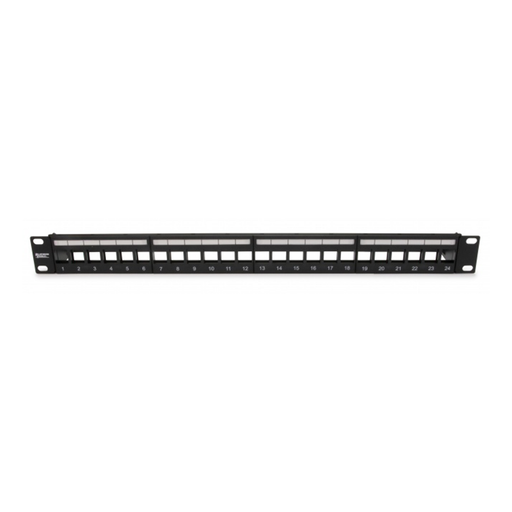 Platinum Tools 642-24SU Unloaded Patch Panel, 24 Port, Shielded