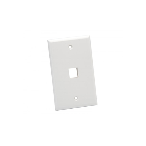Platinum Tools 601WH-25 Wall Plate, Standard, 1 Port, White, 25 Piece/Installer Pack