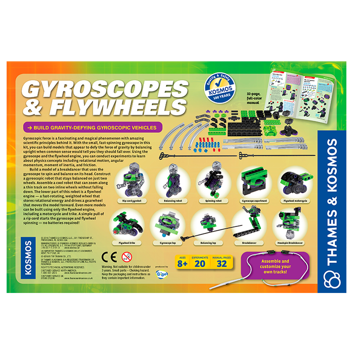 Thames and Kosmos 665106 Gyroscopes & Flywheels Science Kit