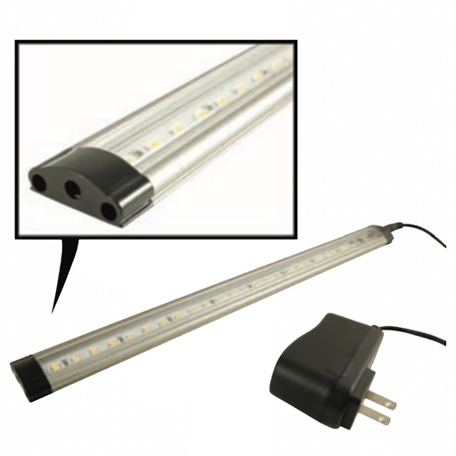 NTE 69-LL-16 Touch-Sensitive Dimmable LED Light Bar, Clear White, 300mm