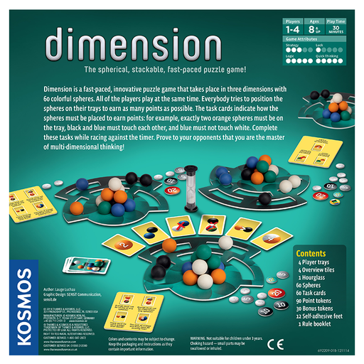Thames and Kosmos 692209 Dimension: The Spherical Stackable Fast Paced Puzzle Game
