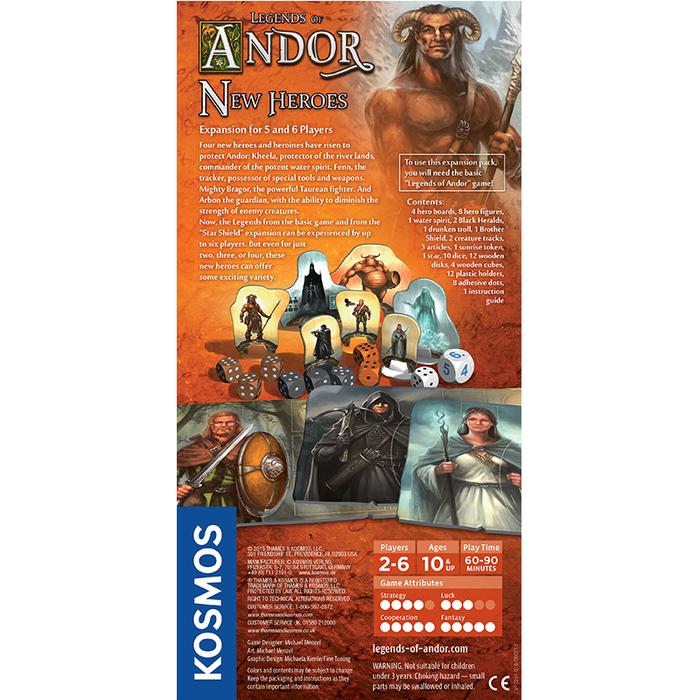 Thames and Kosmos 692261 Legends of Andor New Heroes 5 And 6 Player Expansion Board Game
