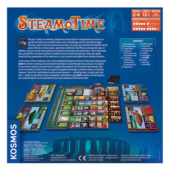 Thames and Kosmos 692476 Steam Time Board Game