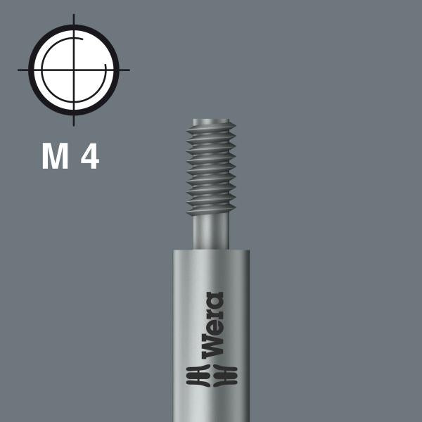 Wera 05065169001 PZ #2 x 44.5mm Pozidriv M6 Threaded Bit