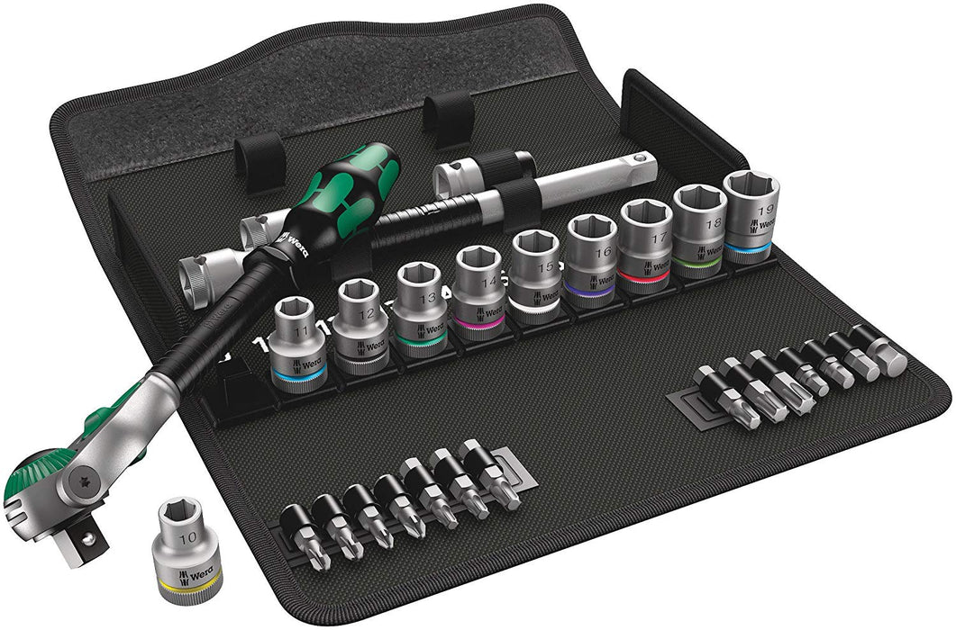 "Wera 05004076001 Zyklop 1/2"" Speed Ratchet Drive Metric Set, 28 Piece"