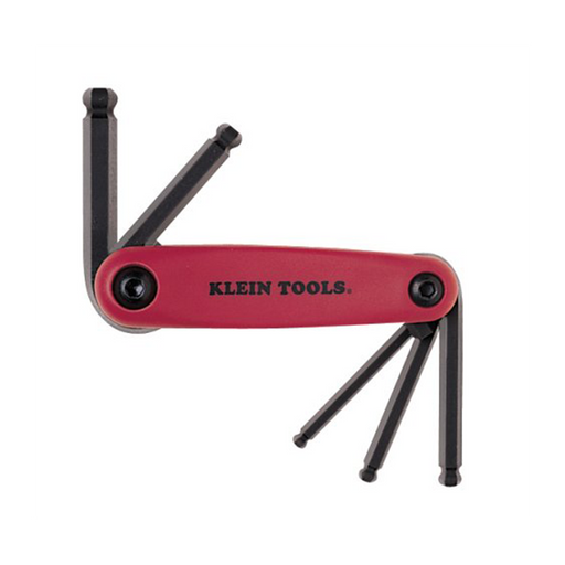 Klein Tools 70572 Grip-It Ball End Hex Five Key Fold-up Driver