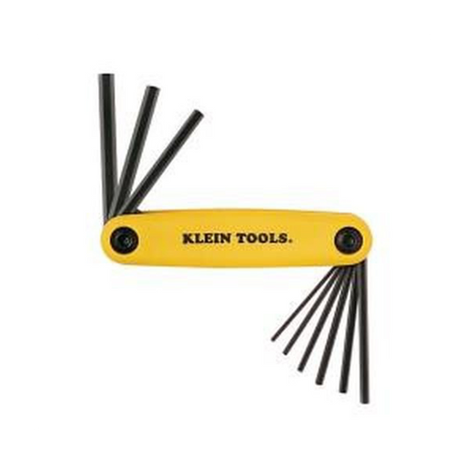 Klein Tools 70574 Grip-It Hex Nine Key Fold-up Driver