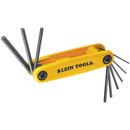Klein Tools 70575 Grip-It Hex Nine Key Fold-up Driver