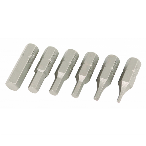 Wiha 71397 6 Piece Hex Metric Insert Bit Set