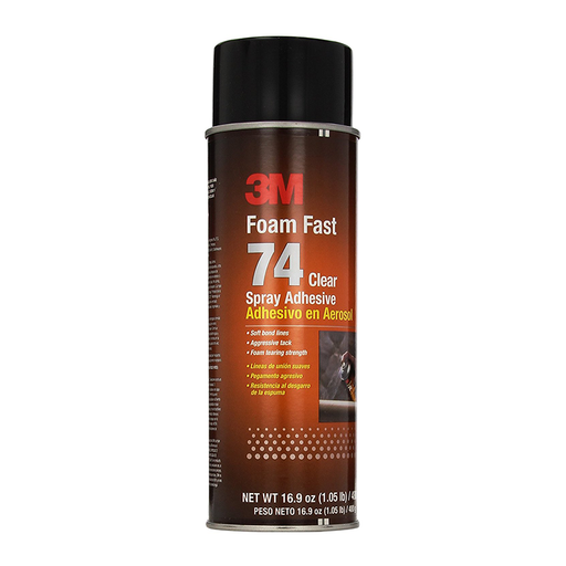3M 74 Clear Foam Fast Spray Adhesive, 16.9 fl oz.