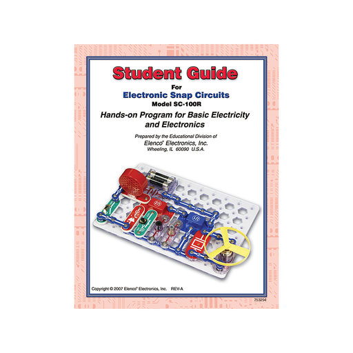 Elenco 753294 Snap Circuits Student Guide ® for SC100/SC100R