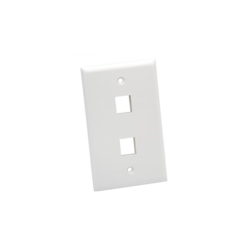 Platinum Tools 602WH-25 Wall Plate, Standard, 2 Port, 25 Piece/Installer Pack, White