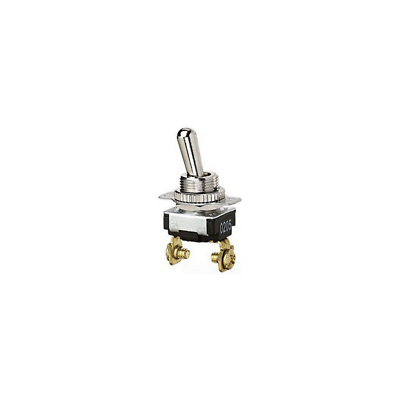 Ideal 774017 Bat Toggle Switch, SPST, O-F, Screw