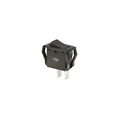 Ideal 774038 Rocker Switch, SPST, O-F, Spade, Black