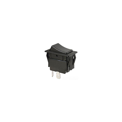 Ideal 774045 Rocker Switch, Standard, Black, SPST, On-Off, Spade