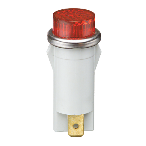 Ideal 775111 Raised Indicator Light, Red, 14V, 1.2