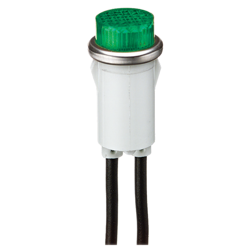 Ideal 776211 Raised Indicator Light, Green, 28V, 1.2