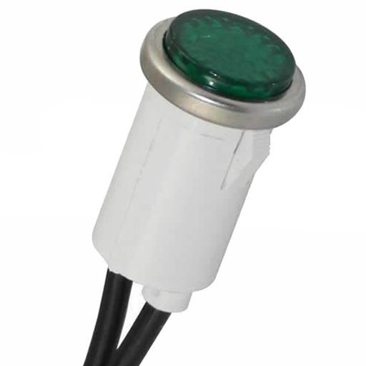 Ideal 777221 Indicator Light, Green, 125V, Flush