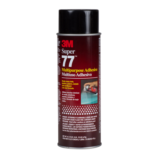 3M Super 77 Clear Multipurpose Adhesive, 16.75oz