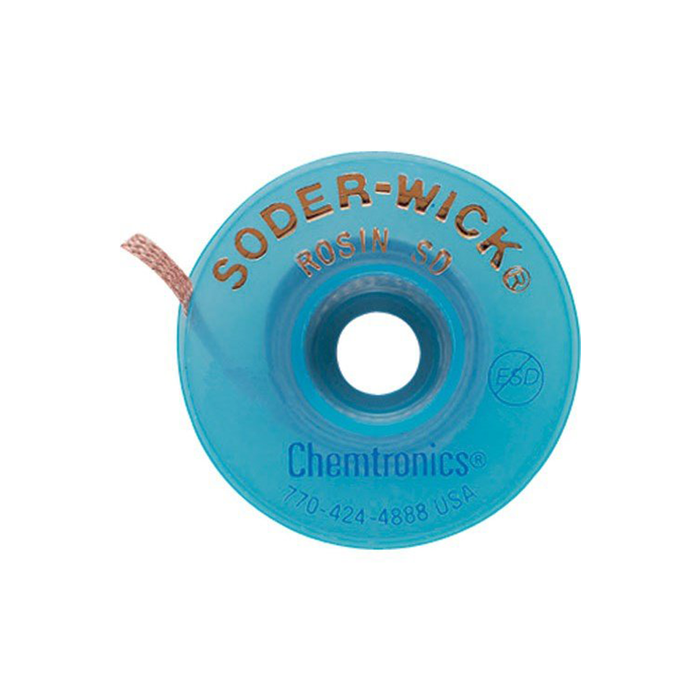 "Chemtronics 80-1-5 SODER-WICK Rosin Desoldering Braid .030"" 5ft on ESD Safe Spool"
