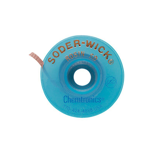 "Chemtronics 80-5-10 SODER-WICK Rosin Desoldering Braid .145"" 10' on ESD Safe Spool"