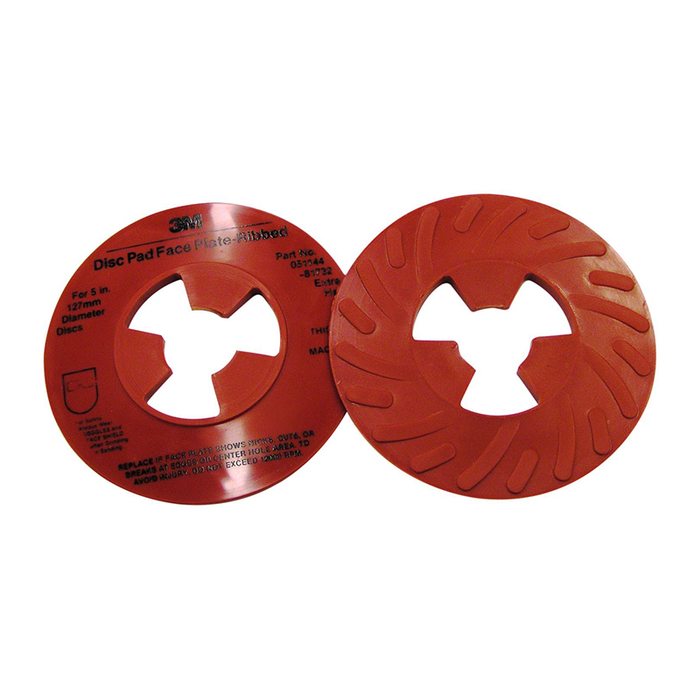 "3M 81732 5"" Red Ribbed Disc Faceplate"