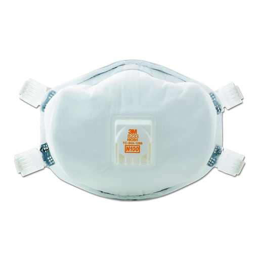 3M 8233 N100 Particulate Respirator, 20 Pack